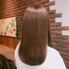 冬 ナチュラル ピンク レッド ヘアスタイルや髪型の写真・画像