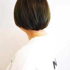 ショートボブ マット ボブ ブリーチオンカラー ヘアスタイルや髪型の写真・画像