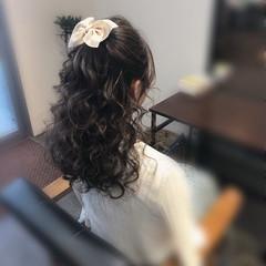 結婚式髪型 結婚式 ヘアアレンジ ガーリー ヘアスタイルや髪型の写真・画像