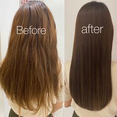 髪質改善カラー 髪質改善 ナチュラル ロング ヘアスタイルや髪型の写真・画像