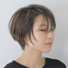 大人かわいい 艶髪 ナチュラル ショート ヘアスタイルや髪型の写真・画像