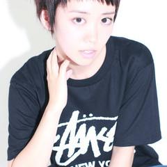 暗髪 黒髪 ストリート ショート ヘアスタイルや髪型の写真・画像