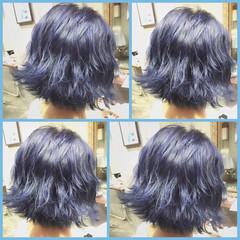 ゆるふわ ショート 暗髪 ガーリー ヘアスタイルや髪型の写真・画像