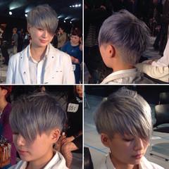 ダブルカラー イルミナカラー モード ショート ヘアスタイルや髪型の写真・画像