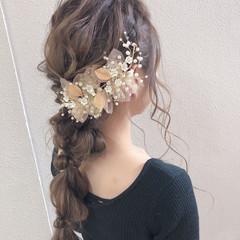 結婚式ヘアアレンジ ふわふわヘアアレンジ ロング ヘアアレンジ ヘアスタイルや髪型の写真・画像