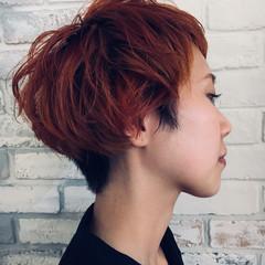モード ボーイッシュ 簡単ヘアアレンジ 秋 ヘアスタイルや髪型の写真・画像