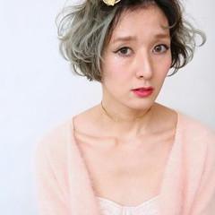 ボブ 外国人風 簡単ヘアアレンジ ショート ヘアスタイルや髪型の写真・画像