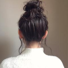 ヘアアレンジ 簡単ヘアアレンジ バレンタイン セミロング ヘアスタイルや髪型の写真・画像