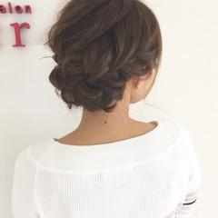 ヘアアレンジ ショート 結婚式 フェミニン ヘアスタイルや髪型の写真・画像