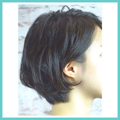 ショートボブ ナチュラル 色気 ボブ ヘアスタイルや髪型の写真・画像