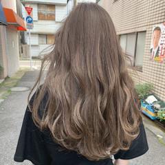 コントラストハイライト ハイライト ロング フェミニン ヘアスタイルや髪型の写真・画像