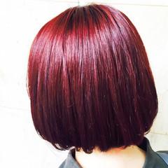 ピンク 暗髪 ストリート 外国人風 ヘアスタイルや髪型の写真・画像