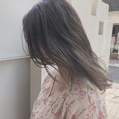 イルミナカラー オルチャン ナチュラル セミロング ヘアスタイルや髪型の写真・画像
