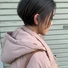 似合わせカット 透明感 ショートヘア 透明感カラー ヘアスタイルや髪型の写真・画像
