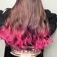 グラデーションカラー フェミニン 大人可愛い ロング ヘアスタイルや髪型の写真・画像
