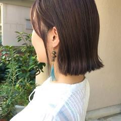 ミニボブ ボブ ブリーチオンカラー ナチュラル ヘアスタイルや髪型の写真・画像