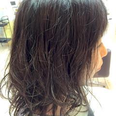 ゆるふわ ミディアム フェミニン パーマ ヘアスタイルや髪型の写真・画像