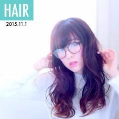 愛され グラデーションカラー モテ髪 ゆるふわ ヘアスタイルや髪型の写真・画像