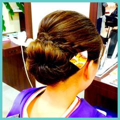 着物 ヘアアレンジ ロング 編み込み ヘアスタイルや髪型の写真・画像