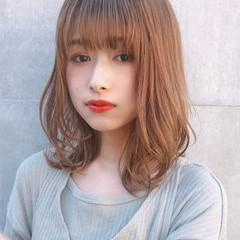 大人可愛い ミディアム パーティ デジタルパーマ ヘアスタイルや髪型の写真・画像