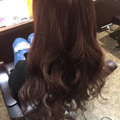 ラベンダーピンク ロング ピンク レッド ヘアスタイルや髪型の写真・画像