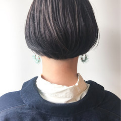 ハイライト 大人かわいい オフィス ショートボブ ヘアスタイルや髪型の写真・画像