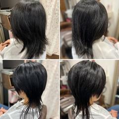 ショートヘア ショート マッシュウルフ ストリート ヘアスタイルや髪型の写真・画像