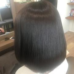 大人女子 ナチュラル 暗髪 グレー ヘアスタイルや髪型の写真・画像