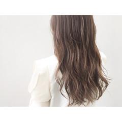 暗髪 グラデーションカラー 外国人風 ロング ヘアスタイルや髪型の写真・画像