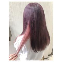 ピンクアッシュ ピンク フェミニン ラベンダーピンク ヘアスタイルや髪型の写真・画像