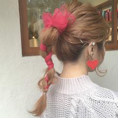 ヘアアレンジ 成人式 ガーリー 簡単ヘアアレンジ ヘアスタイルや髪型の写真・画像