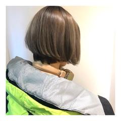 ハイトーンボブ ショート ブリーチ ハイトーン ヘアスタイルや髪型の写真・画像