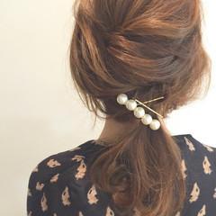 ショート 簡単ヘアアレンジ ミディアム 大人かわいい ヘアスタイルや髪型の写真・画像
