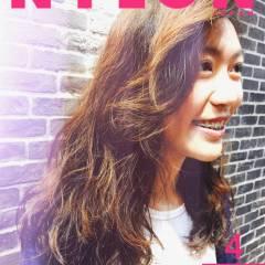 ウェットヘア 春 ストリート パーマ ヘアスタイルや髪型の写真・画像