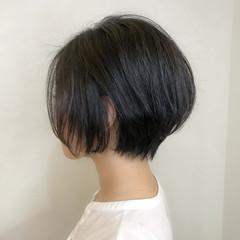 ショート ショートボブ ナチュラル デート ヘアスタイルや髪型の写真・画像