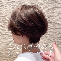 ベリーショート ナチュラル ショートボブ 黒髪 ヘアスタイルや髪型の写真・画像