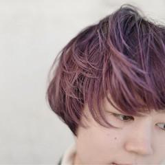 バイオレットアッシュ ハイトーン ボブ パープル ヘアスタイルや髪型の写真・画像