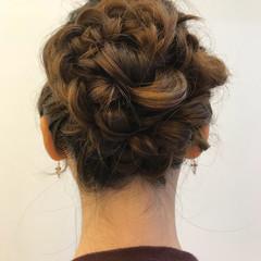 結婚式 ヘアアレンジ 編み込み まとめ髪 ヘアスタイルや髪型の写真・画像