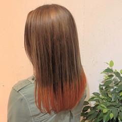 グラデーション ワンレン グラデーションカラー ワンレンベース ヘアスタイルや髪型の写真・画像