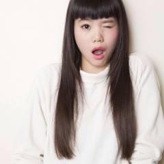 ロング ナチュラル 秋 黒髪 ヘアスタイルや髪型の写真・画像