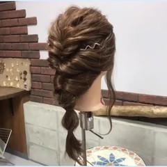 デート オフィス ロング ヘアアレンジ ヘアスタイルや髪型の写真・画像