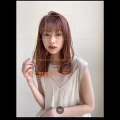 ミディアム 大人かわいい レイヤーカット ナチュラル ヘアスタイルや髪型の写真・画像
