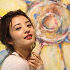 ミディアム 簡単ヘアアレンジ ヘアアレンジ ゆるふわ ヘアスタイルや髪型の写真・画像