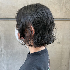 切りっぱなしボブ ボブ ボブ 外ハネボブ ヘアスタイルや髪型の写真・画像