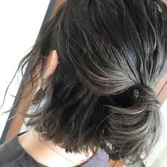 簡単ヘアアレンジ ミディアム 波ウェーブ ヘアアレンジ ヘアスタイルや髪型の写真・画像