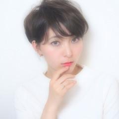 色気 ナチュラル アッシュ ショート ヘアスタイルや髪型の写真・画像