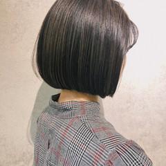 ナチュラル ショートボブ インナーカラー ミニボブ ヘアスタイルや髪型の写真・画像