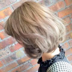 ナチュラル 大人かわいい ボブ 秋 ヘアスタイルや髪型の写真・画像