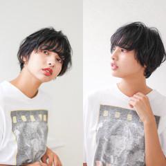 ショート ナチュラル モテ髪 黒髪 ヘアスタイルや髪型の写真・画像