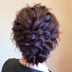 ヘアアレンジ 結婚式 簡単ヘアアレンジ エレガント ヘアスタイルや髪型の写真・画像
